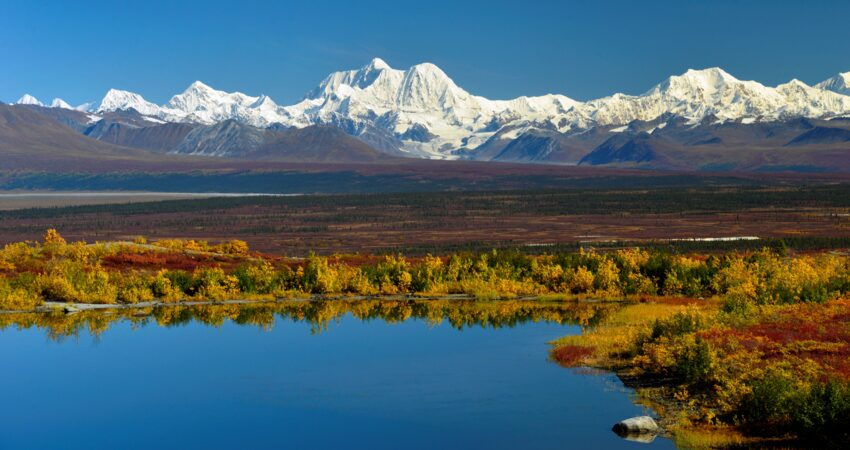 Exceptional view of Mt. Hayes from the the Denali Highway.