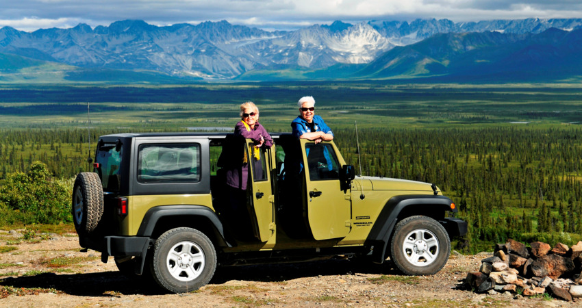 All smiles on the Denali Highway jeep excursion.