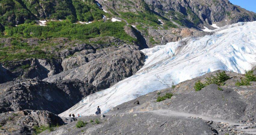Hike to Exit Glacier in Seward Alaska.