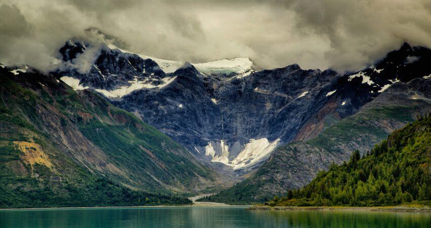 Dramatic glacial retreat in Glacier Bay National Park.