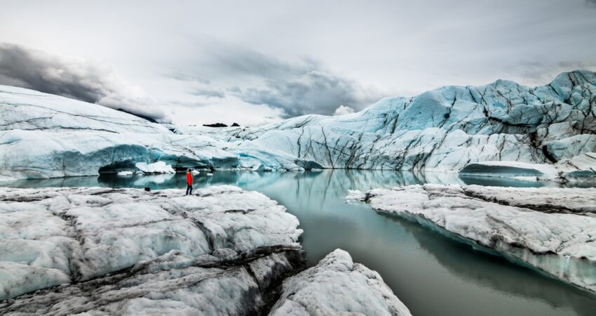 Hiking at Matanuska Glacier.