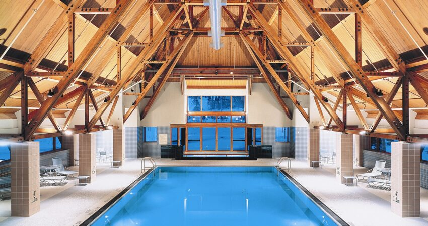 Relax in the jacuzzi or take a swim in The Hotel Alyeska Spa.