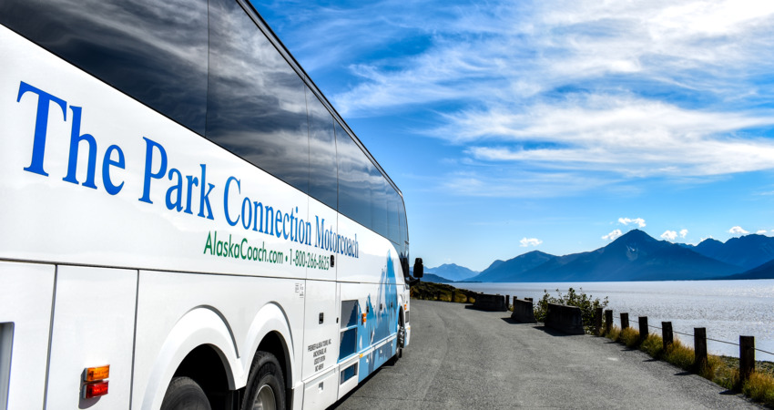 Park Connection travels along the scenic Turnagain Arm.