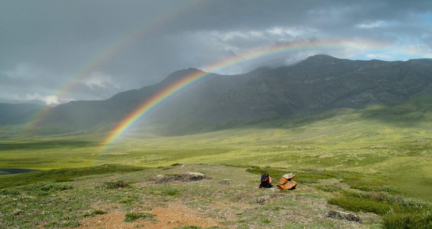 Double rainbow in Gates Of The Arctic National Park.