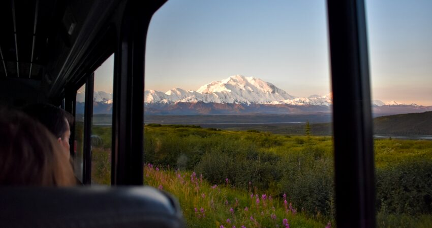 Perfect Denali views leaving Kantishna Roadhouse.