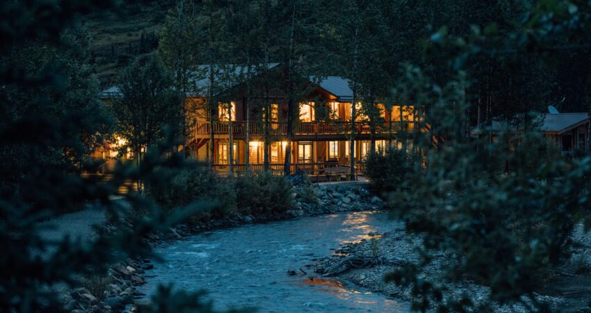 Middle of a summer night at the Denali Backcountry Lodge.