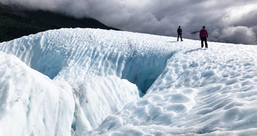 Trekking on the Root Glacier near Kennicott.
