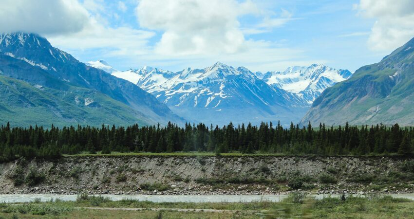 Scenery along the Richardson Highway between Fairbanks and Copper Center.