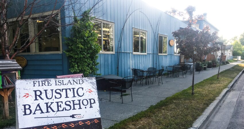 Fire Island on 14th and G near downtown Anchorage, Alaska.