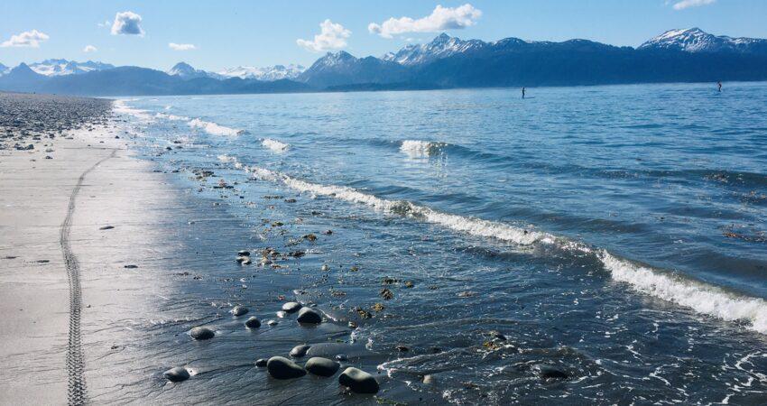 Alaska's version of beach weather in Homer.