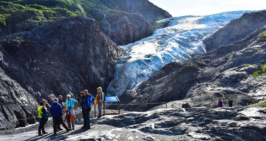 Glacier Overlook Trail in Kenai Fjords National Park.