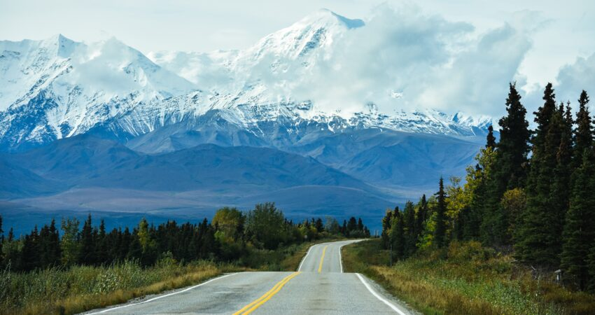 View of the Alaska Range from the Richardson Highway.