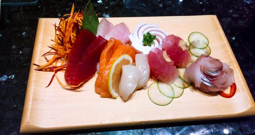 Sashimi sampler at the Sakura Asian Bistro inside Alyeska Resort.