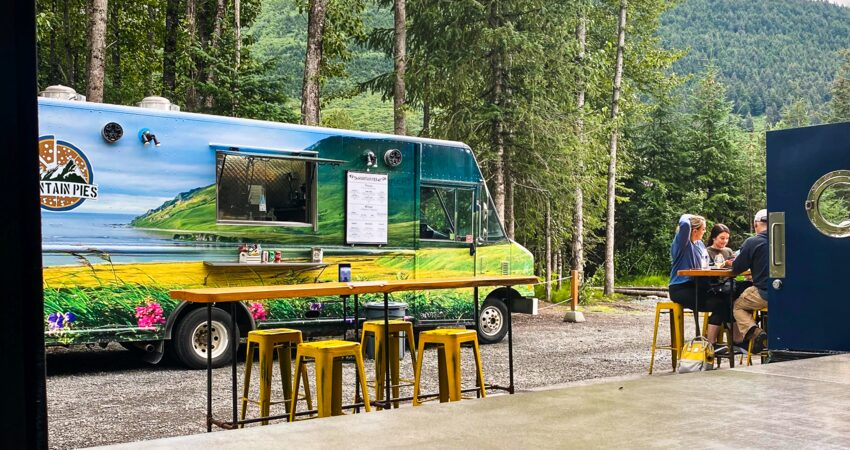 Mountain Pies, one of the Girdwood Brewing Company's regular visiting food trucks.